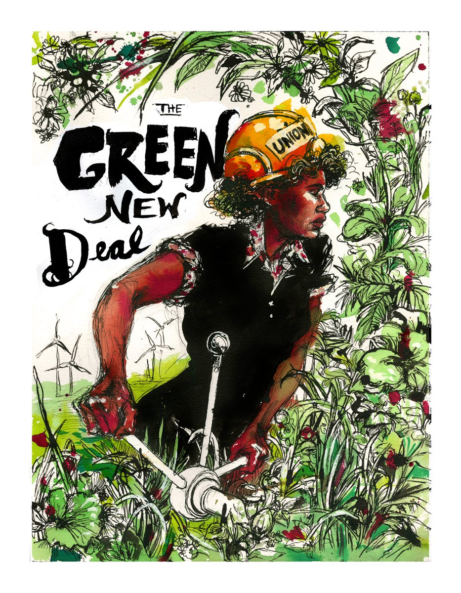 The US Green New Deal -  @AOC and  @EdMarkey  https://www.congress.gov/bill/116th-congress/house-resolution/109/text  #Greennewdeal  #uspol  #uslaw  @mollycrabapple has created some iconic art to celebrate the resolution.  @NCTCE2021  #vctce2020  #cleantech  #cleanenergy  #climate