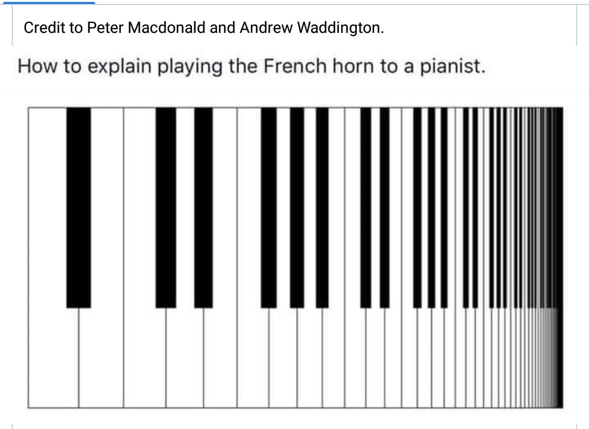 『ピアニストにホルンの高音の難しさを分からせる方法』😁😁