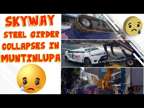 ACTUAL VIDEO OF SKYWAY STEEL GIRDER COLLAPSES IN MUNTINLUPA/SKYWAY PROJECT ACCIDENT - https://t.co/OacRkCOhPF - https://t.co/g2spSZx8fs -  SkywaySteelGirderCollapsesInMuntinlupa#SkywayProjectAccident Steel girder from a portion of the ongoing skyway ... https://t.co/wINE7eeTxL