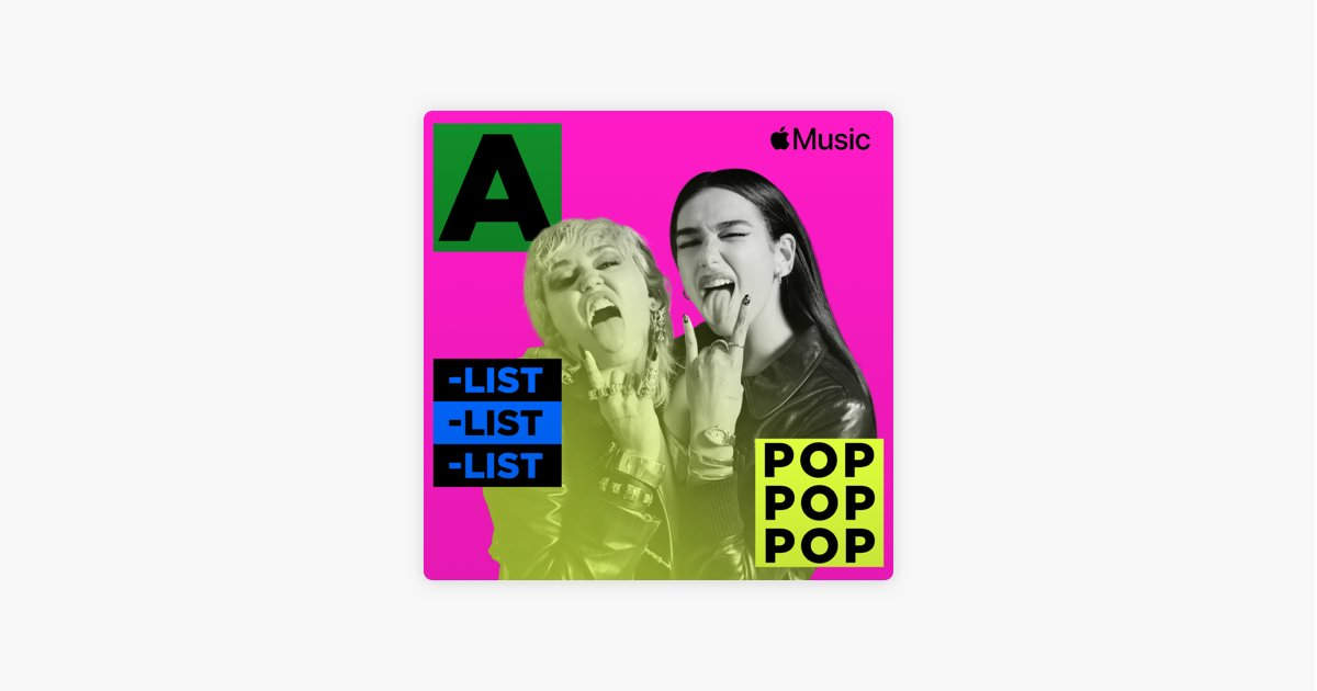 She's a 𝖉𝖎𝖘𝖈𝖔 dance-pop queen and on the cover of #AListPop on @AppleMusic  It's @DUALIPA alongside @MileyCyrus for their new collaboration! 🎵  🔊Listen here: