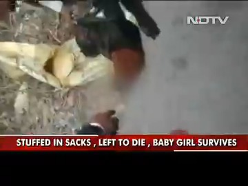 Stuffed In 3 Gunny Bags, Left To Die, UP Baby Girl Survives  NDTV's Alok Pandey reports. Read:
