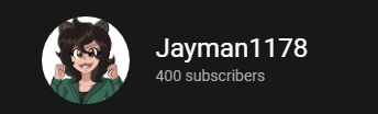 Mastermax888 - I would like to congratulate the King of the Great Legion and owner of Jayman Industries on getting 400 subscribers! Do support our liege on Twitter as well @Jayman8711