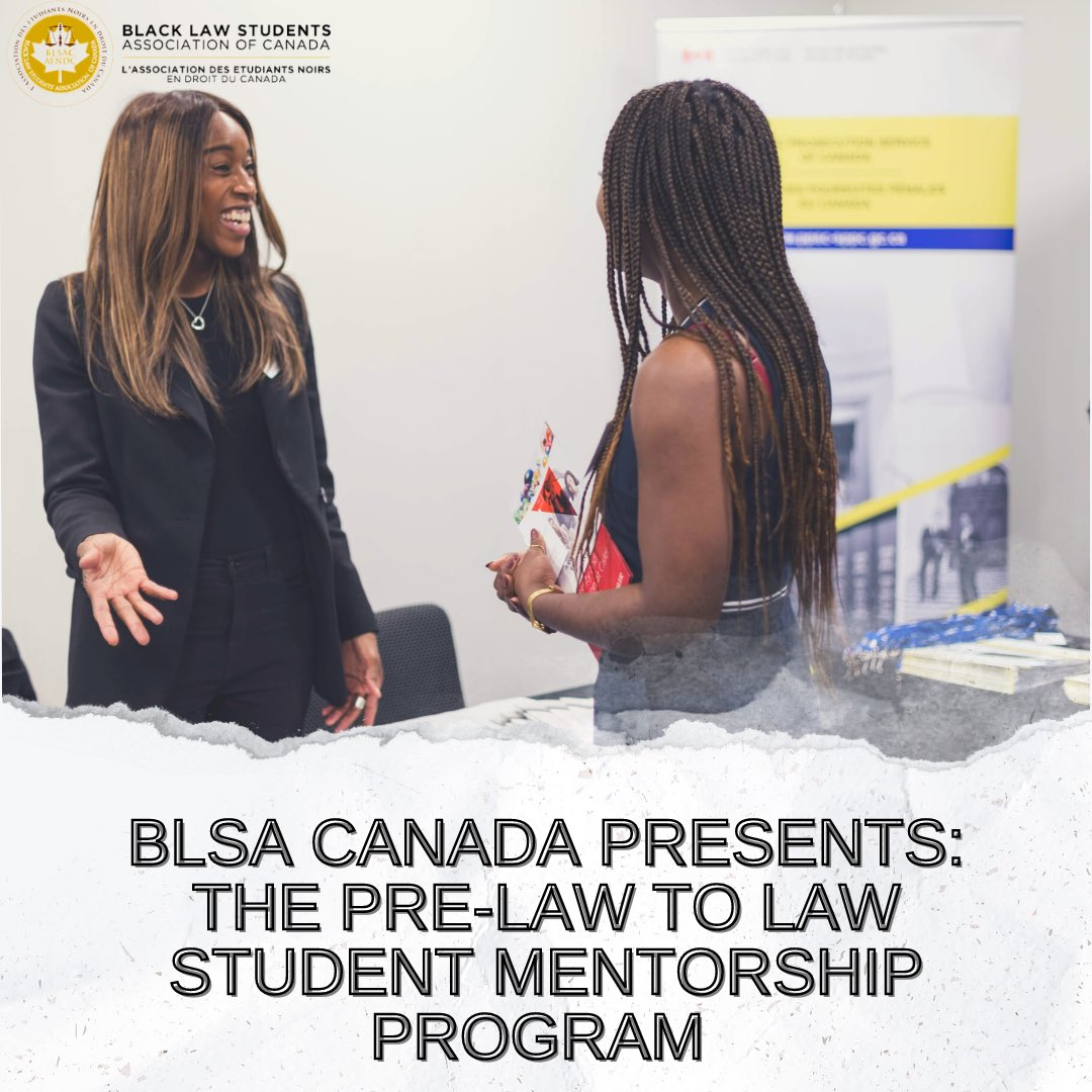 **** Updated forms to fill out **** Consider joining our initiative: The Pre-Law to Law Student Mentorship Program. For mentees to fill out: docs.google.com/forms/d/e/1FAI… For mentors to fill out: docs.google.com/forms/d/e/1FAI… Contact our Mentorship Representative: mentorship@blsacanada.com