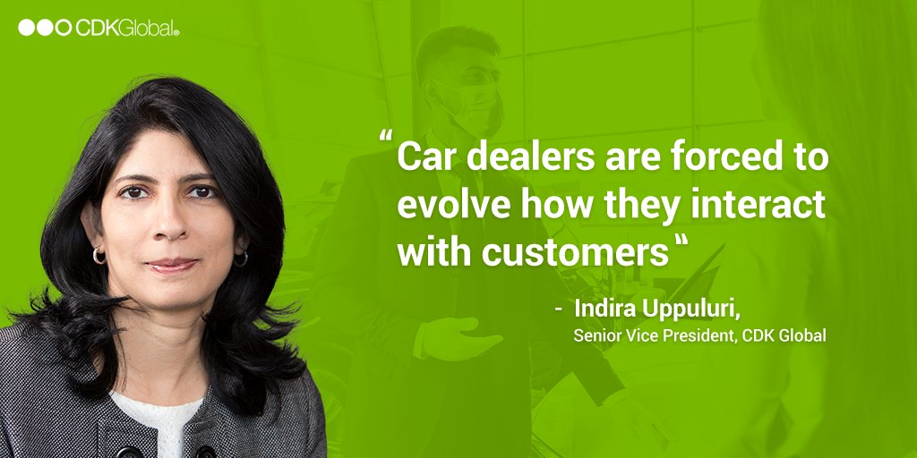 """""""The pandemic and changing consumer habits have accelerated digital transformation in automotive retail, forcing car dealers to evolve how they interact with customers,"""" says Indira Uppuluri, SVP, #CDKGlobal to @BWBusinessworld. Read more at https://t.co/sKYd54hrv6 https://t.co/xMmVCbGFS3"""