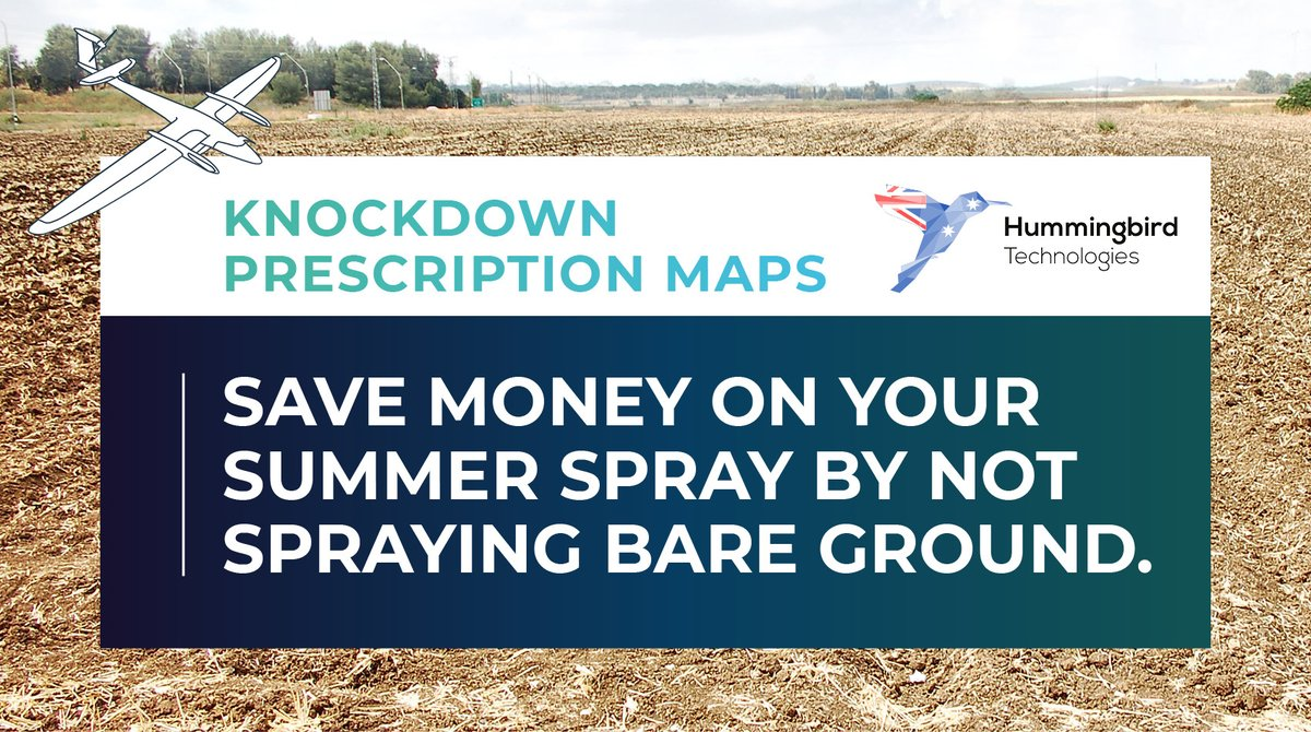 Hummingbird Knockdown Prescription Maps: Using drone footage, we'll create a prescription map identifying the areas where weeds are present.  Upload the prescription map to your boomspray monitor and spray only the weeds!  Contact us: scottw@hummingbirdtech.com 0437470015 #ausag https://t.co/SEsWZyKHQl