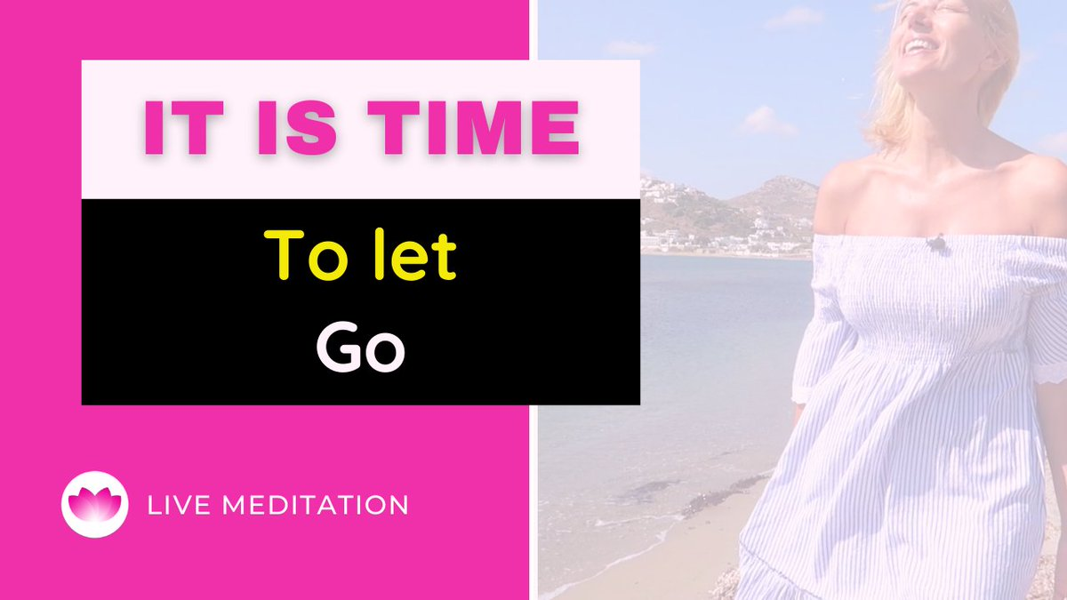 """It is time to let go"" 🌞 LIVE Meditation with intension  [Video]   Feel free to join our LIVE meditation from Monday to Friday 19.30 EET on YouTube.   #livemeditation #onlinemeditation #meditation #mariamastrogianni #happiness #livestreaming"