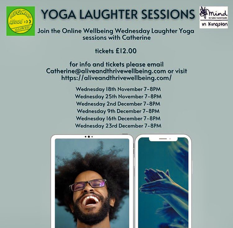 If you haven't tried our  #laughteryoga sessions yet why not give them a go ?There's never been a better time to give yourself a winter wellbeing boost. Pl retweet to spread the word #yoga #laughter #laughteristhebestmedicine