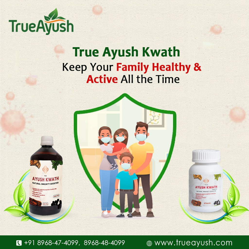 In order to keep you and your family healthy, True Ayush brings you the range of immunity boosters that support the body's natural immune response. Call Now at +91 8968-47-4099, 8968-48-4099 Or, Visit us  #TrueAyush #Immunity #ImmunityBooster #Ayurveda