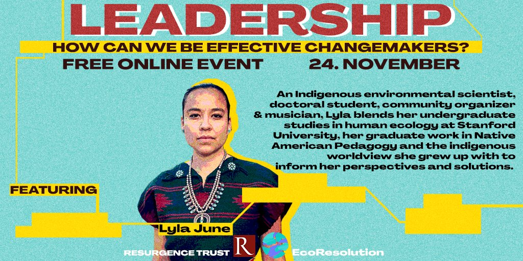 As we stand on the brink of environmental crisis, how can we be effective change-makers and leaders?🙌w/ @LylaJune4NM 🌈Register for free here:  @Resurgence_mag @the_ecologist