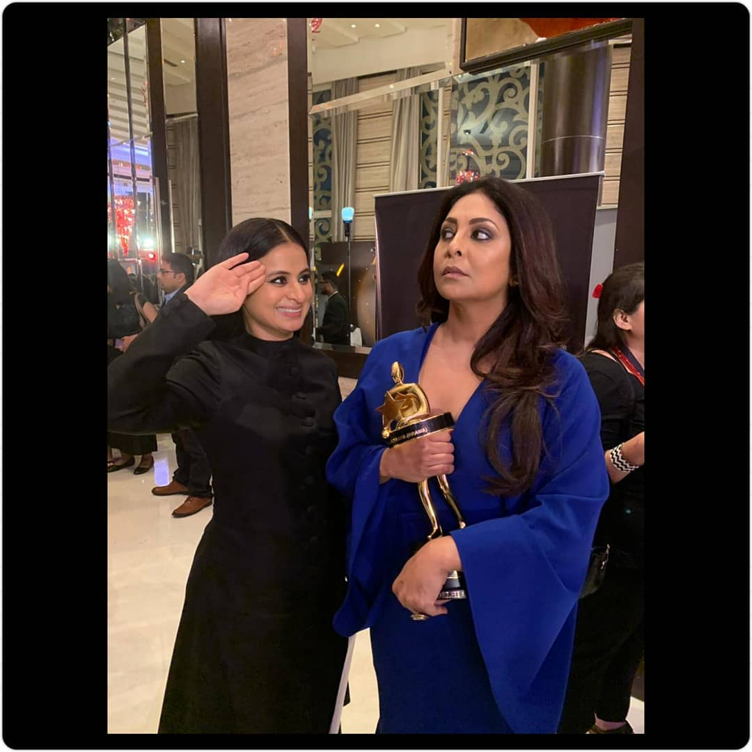 Just one queen saluting another 👑  @RasikaDugal  @ShefaliShah_