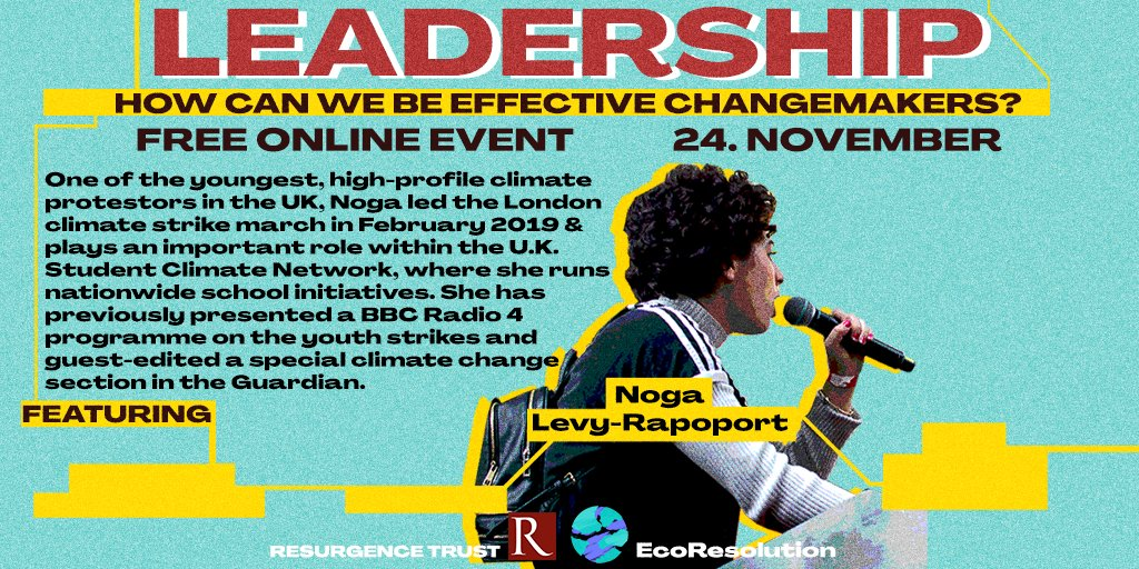 What forms of leadership are needed to create the change the world needs? W/ @Noga_LR ☀️ Join us tonight (7-9pm GMT) by registering for FREE here  @Resurgence_mag @the_ecologist