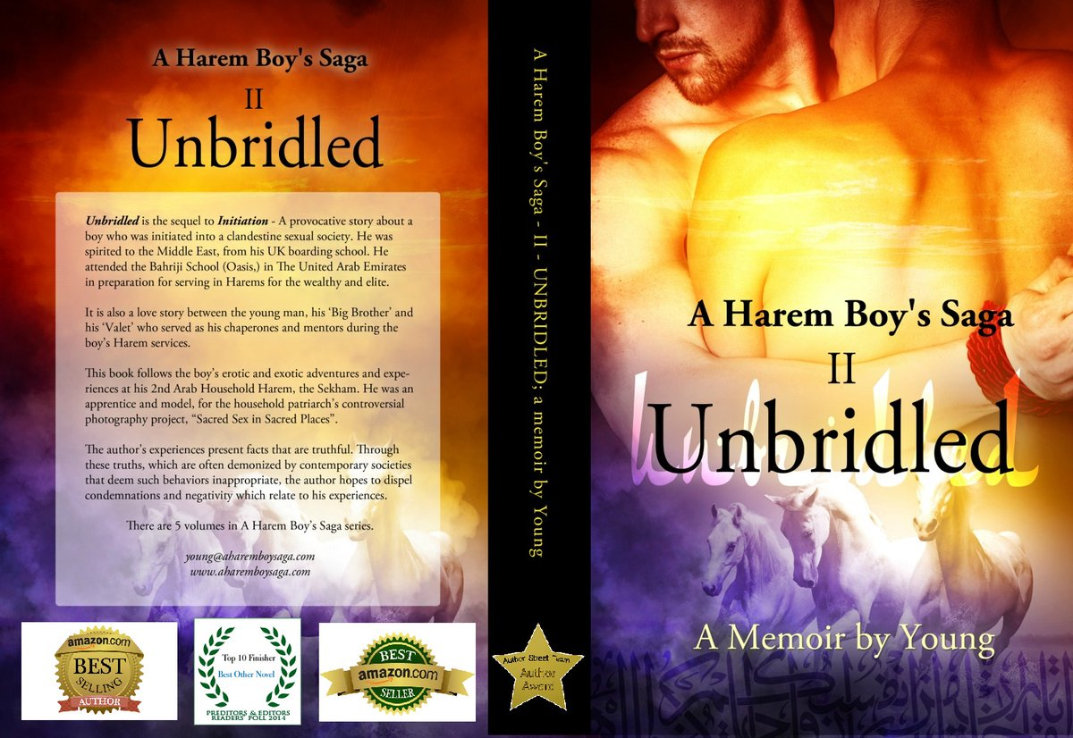 I couldn't sleep because I was enamored by this memoir.  UNBRIDLED https://t.co/7AGkfzT3GG is the sequel to a sensually illuminating true story about a young man coming-of-age in a secret society & a male harem. #BookBoost #AuthorUpROAR https://t.co/u6QTsX2zS3