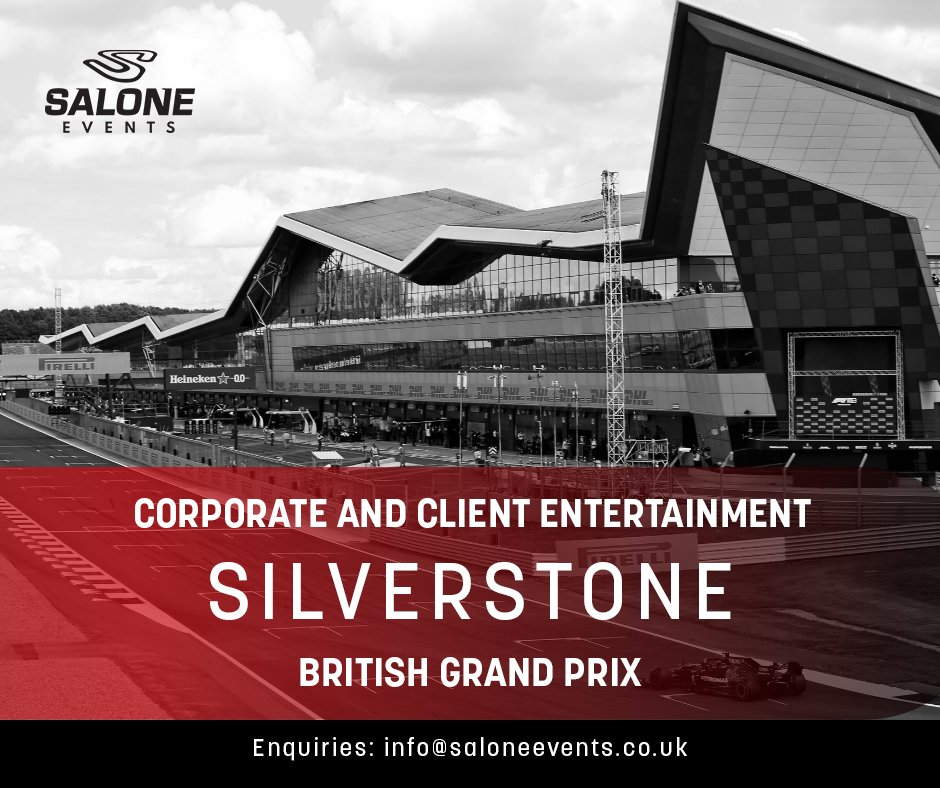 Bring your team to the British Grand Prix and be apart of one of the most iconic races in the F1 calendar. Corporate packages and entertainment available including paddock club and pit lane walks. Follow the link to submit your enquiry: https://t.co/daewwRfBXH #F1 #BritishGP https://t.co/DM2xNxXnep