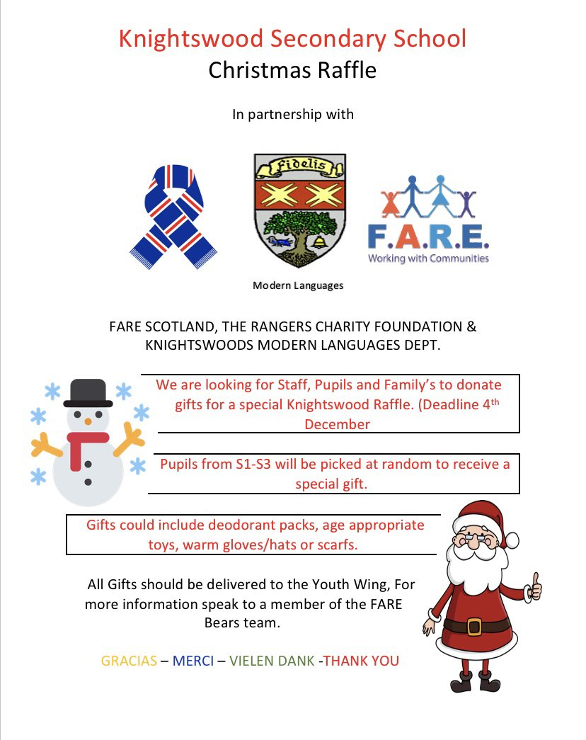 We are doing a Christmas raffle for our young people at KSS.   Let me know if you would like to donate anything 😊  @paul_fare @Jimmy_FARE @FARE_Scotland https://t.co/SpkQmLfAmc