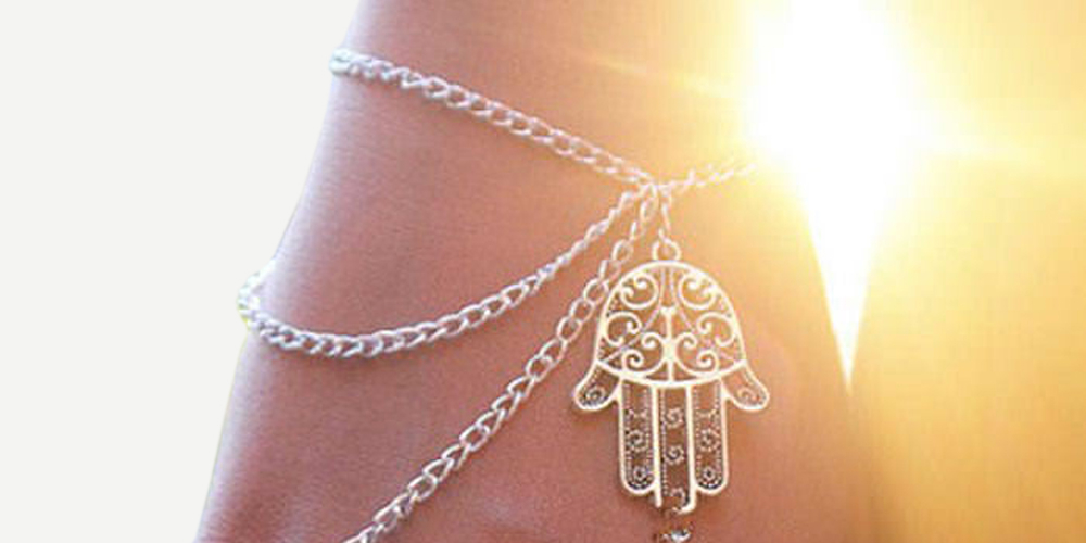 Multilayer Chain Wrist and Hand Bracelet with Hamsa Hand Charm  On Sale Now Price: $9.99 + Get FREE Shipping! #onsalenow #bodychains #fashion #summer #happiness #beauty #instagram #style #cute #followme #bodychain #bellybutton #bellybuttonring #onsale