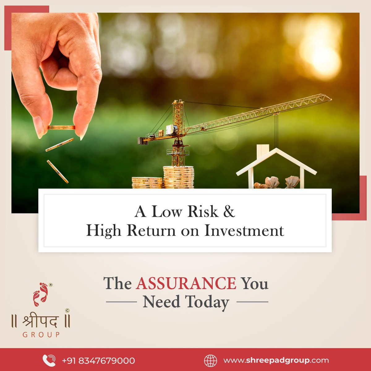 A Low Risk & High Return on Investment! The Assurance you need Today.  Click:    #4bhkflats #5bhk #3bhkhomes #ShreepadGroup #celebrations #CredaiSurat #Surat #bestbuilders #bestintown #realestate #luxuryrealestate #realty #realtors #investment #lifestyle