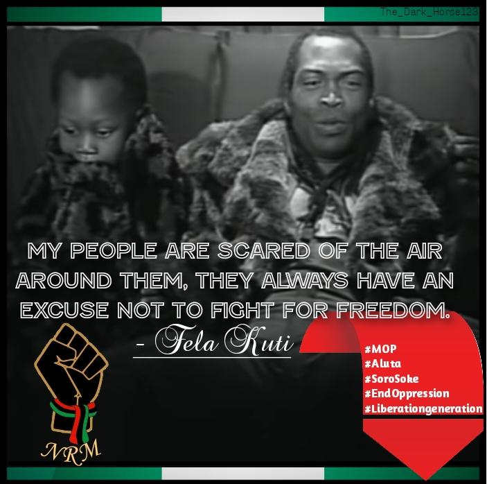 There Is No How A Lion Can Be Related To A Sheep, That Is Biological Contradiction. Fela Kuti Became Fearless Like The Lion When He Embraced Africanism, And He Gave Us MOP, Then Instilled The Fearlessness Into His Son Seun Kuti Who Now Picked Up Gun Where Lion King Left It.