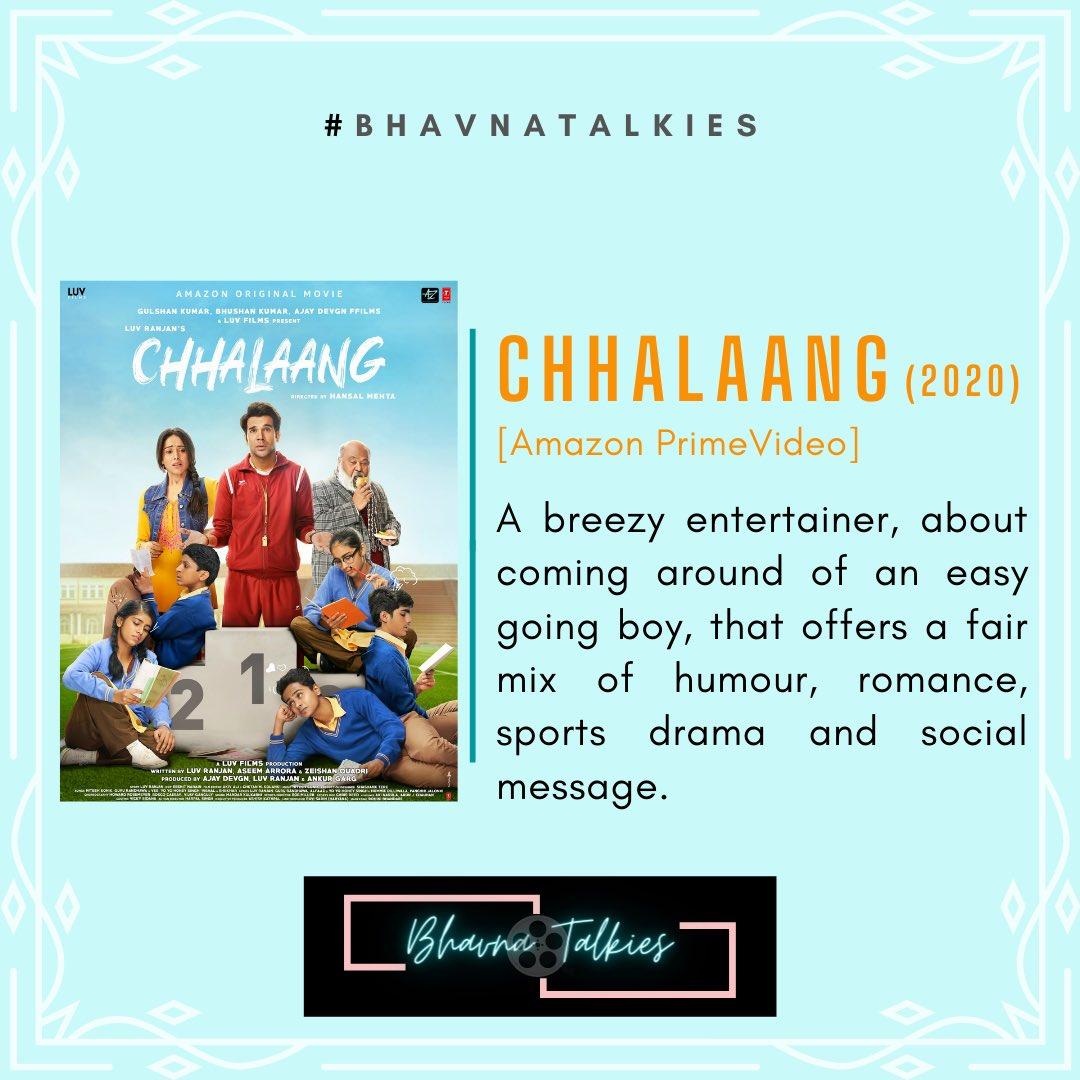 #Chhalaang  The film belongs to the charming performances,the fine set of actors that lift the humour & the direction that turns this avg story into an entertaining breezy watch.  @mehtahansal @RajkummarRao @Nushrratt @Mdzeeshanayyub @satishkaushik2 #saurabhshukla @ChhalaangFilm