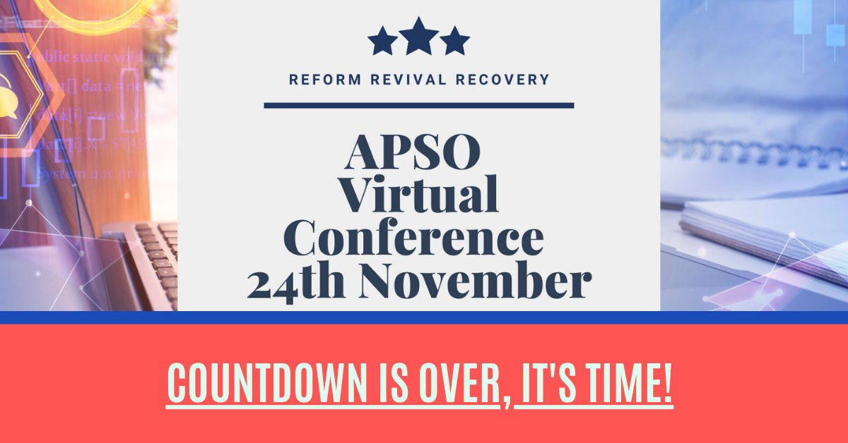 Finally! Today is the day. We are so excited to be going live online for the #APSO2020 APSO Virtual Conference 2020   #recruitmentconference #NovemberWish #live #JobAdviceSA #JobSeekersSA #JobSeekersWednesday #international #today #tuesdaymotivations https://t.co/IYz7GK3cyS
