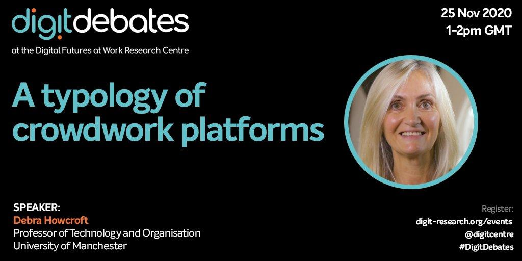 📣🚨Still time to register for tomorrow's online #DigitDebates event with Prof. Debra Howcroft @digitcentre Details below: https://t.co/lc6GuypYAk