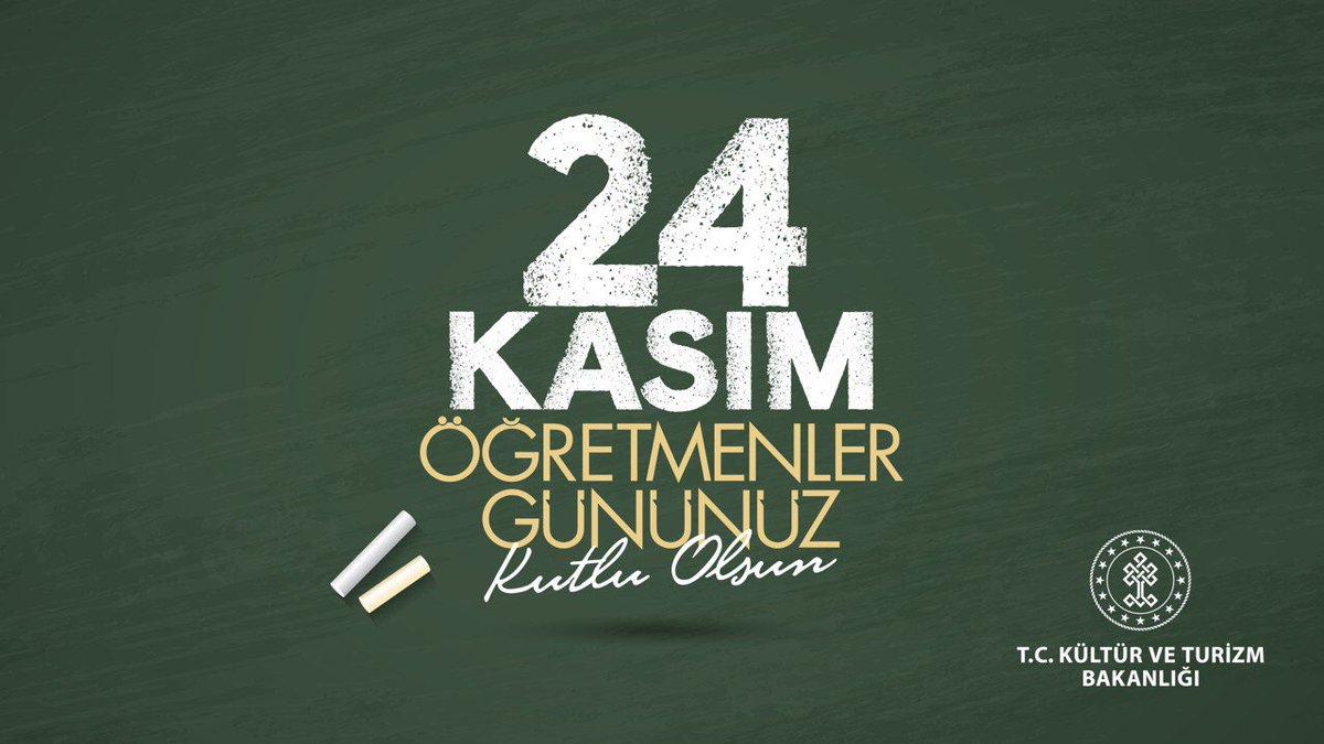 #24KasımÖğretmenlerGünü kutlu olsun.