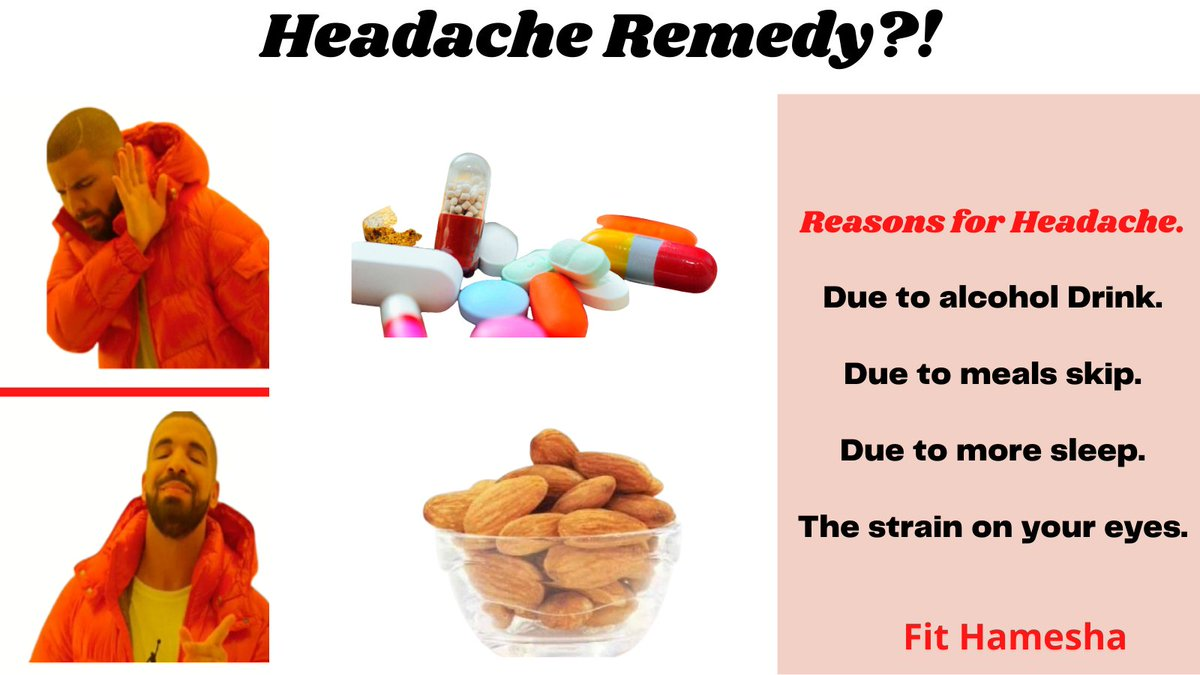 Headache Headache or head pain is very difficult to describe, but some symptoms like throbbing, squeezing, constant, Reasons for Headache. Due to alcohol Drink. Due to meals skip. Due to more sleep. The strain on your eyes.  . #Ayurveda #Health #herbst #headache #headaches