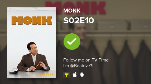 I've just watched episode S02E10 of Monk! #monk  #tvtime https://t.co/hFZNq6dc31 https://t.co/UazxxIKrfU