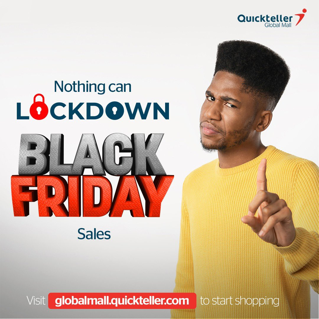 Did someone say Black Friday sales? Yes! Black Friday is fast approaching. Have you made a list of what you want? Don't forget to shop for the best deals on Quickteller Globalmall 🛒🛍 #EverythingIsPossible