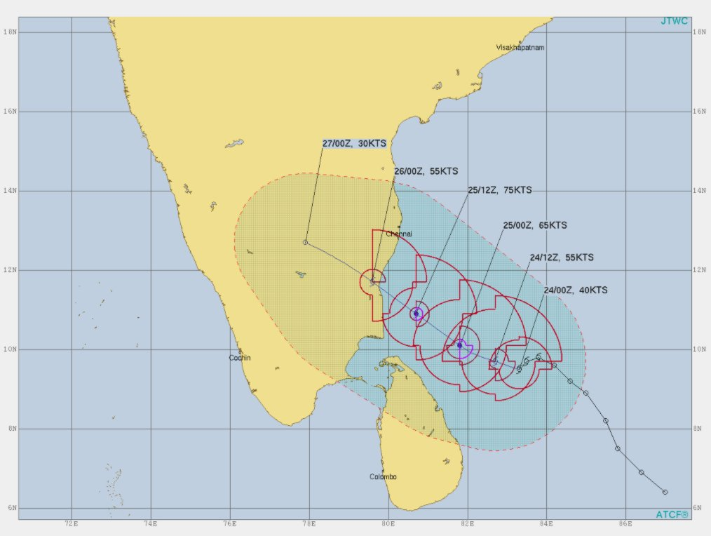 #CycloneAlert: Deep depression in Bay of Bengal has intensified into #CycloneNivar, expected to make a landfall between #Cuddalore to #Chennai tomorrow. Rapid Response is preparing to assist the vulnerable coastal communities across #TamilNadu.
