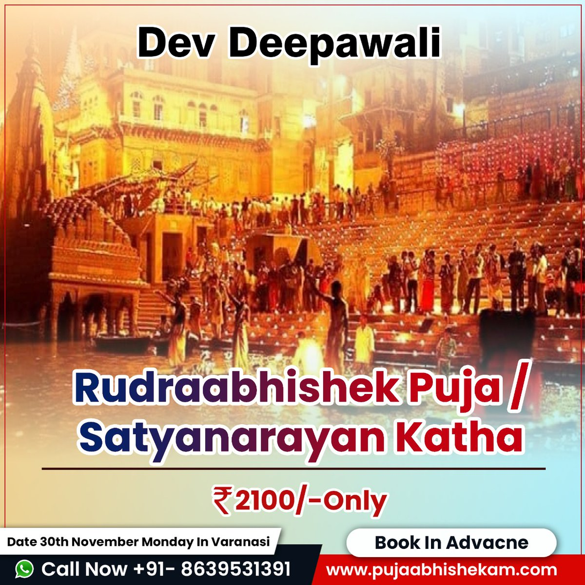 The Dev Deepawali is the festival of #KartikPoornima celebrated in Varanasi, India. It falls on the full moon of the Hindu month of #Kartika and takes place fifteen days after #Diwali. So worshipping god on this day is very important and we will help you with the puja.