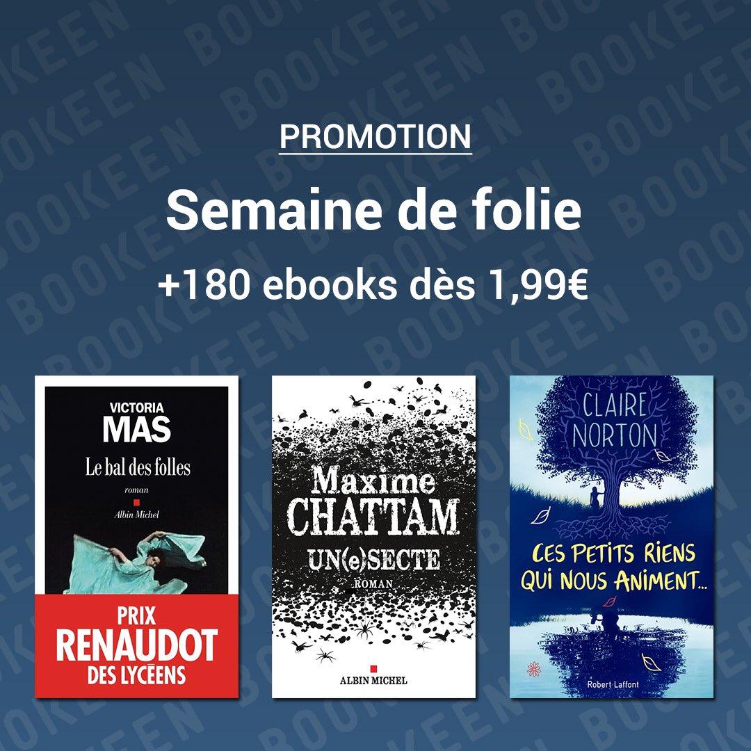 ⭐️⭐️ Près de 200 ebooks à partir d'1,99€ avec des incontournables Maxime Chattam, Anna Todd, Claire Norton, Victoria Mas !! 😊😊  Offre valable jusqu'au 30 novembre   À découvrir sur votre liseuse et sur https://t.co/TTWyWDede1  #BlackFriday #ebook https://t.co/eiRYzOtD70