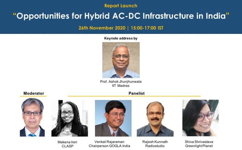 Can energy-efficient #appliances be integrated with the #electricity grid? Join us on 26 November as we launch our latest report, deep-diving into the opportunities for a hybrid AC-DC infrastructure in #India. Find the agenda and register here: