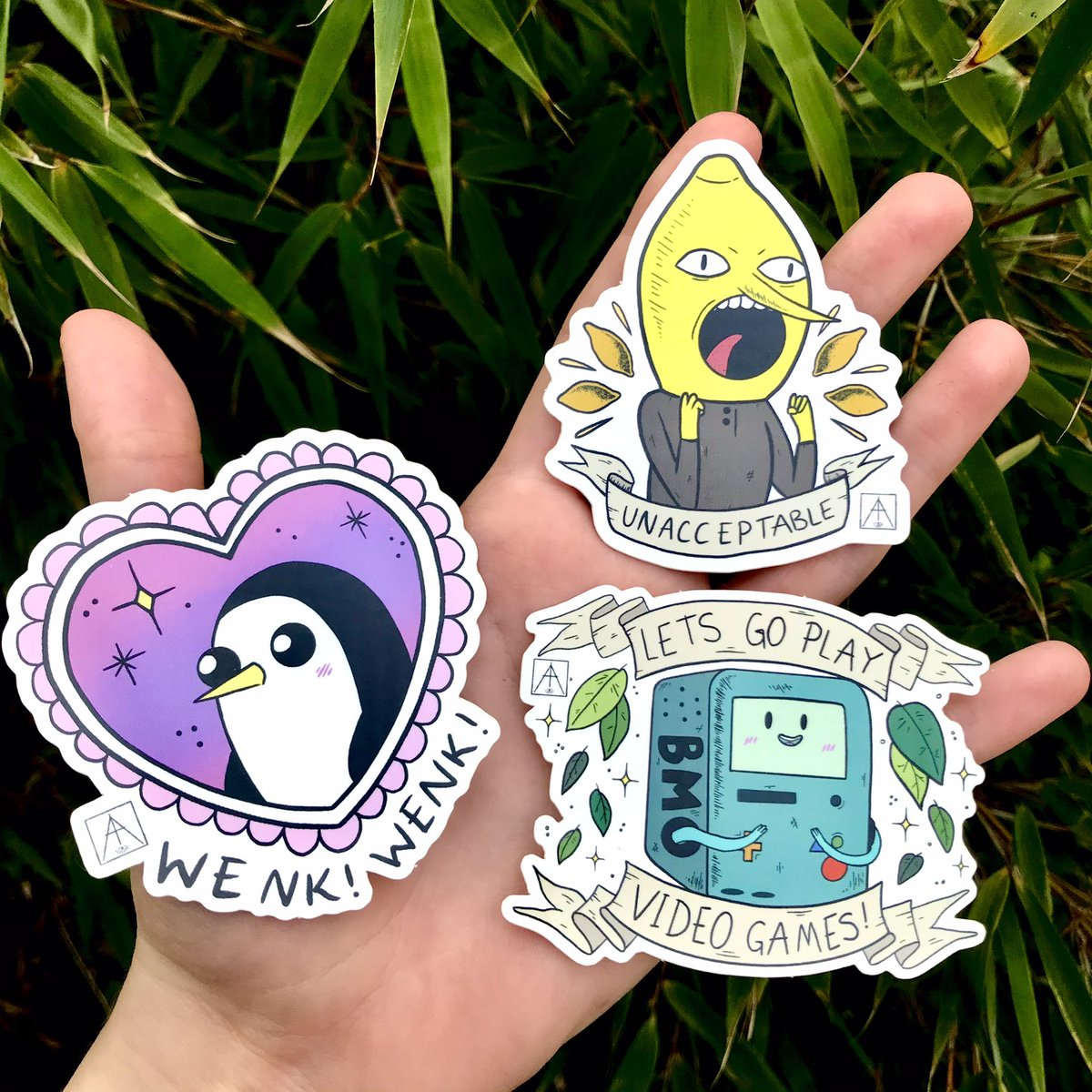 ✨ADVENTURE TIME STICKERS Available singularly OR in a discounted 3 pack!!🍄✨🌈☀️🍋⚔️ fenn.bigcartel.com/category/stick…