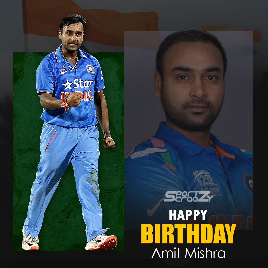 Happy Birthday!! @MishiAmit 🎂🏆  Read More:  @BCCI  #HappyBirthday  #Cricket  #Amitmishra #happybirthday #indiancricketer #legspinner #bowler #spinbowler #cricketball  #cricketkit #DC #indiancricketteam