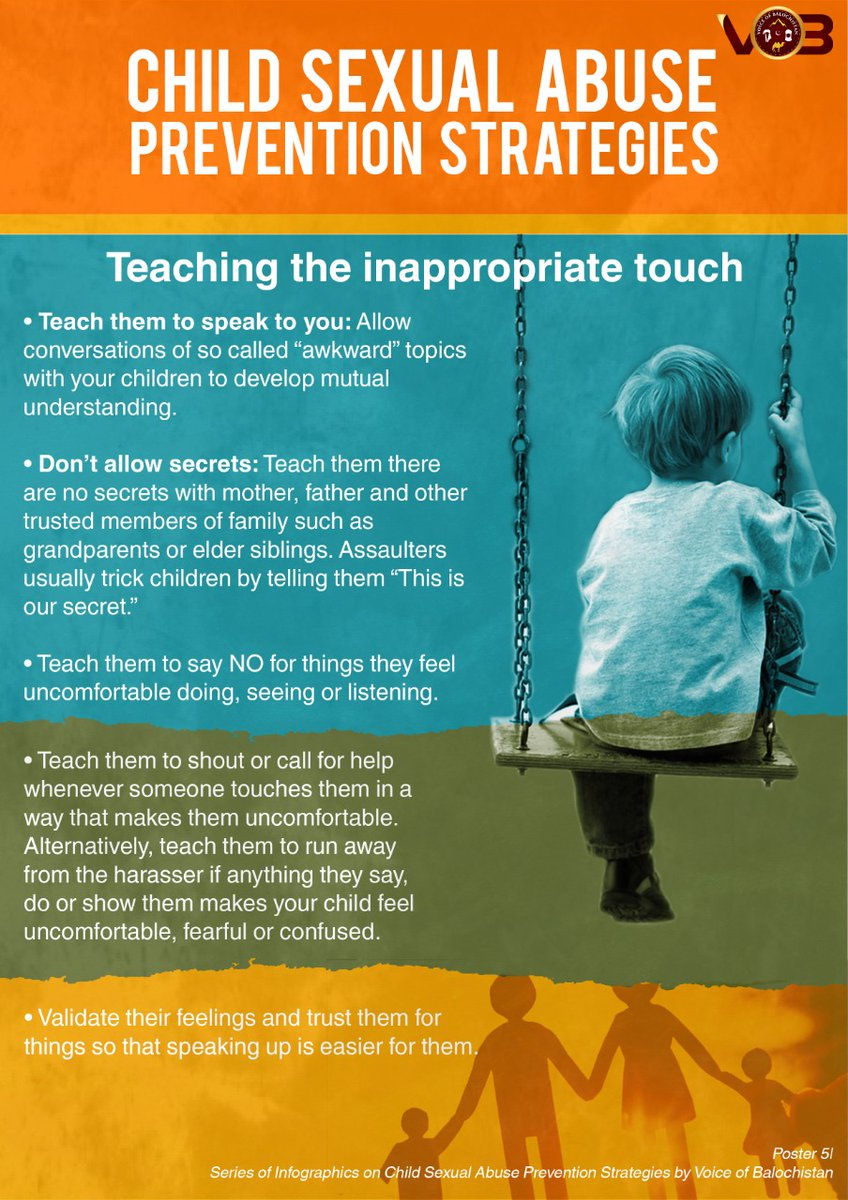 In today's world where we come across news on child abuse &  molestation every other day, we must empower our children with the right knowledge before it's too late. Here's how you can create an environment at home to teach them about the good and bad touch.  #StopChildAbuse https://t.co/ZQpINKtX0L