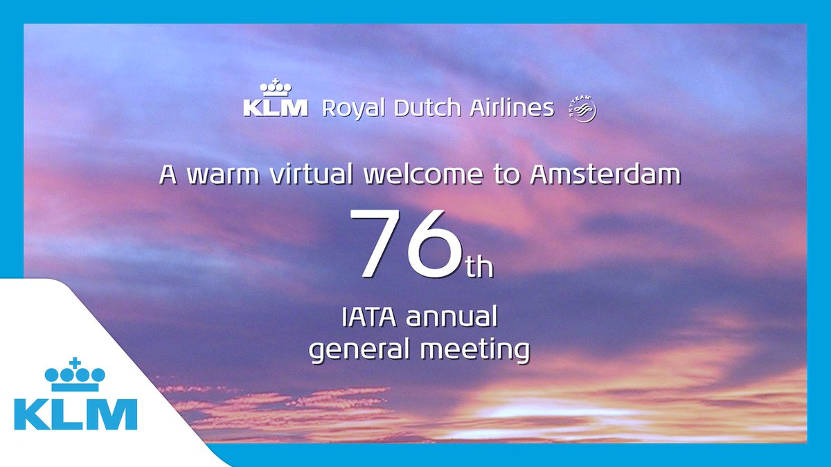 Image for the Tweet beginning: KLM is proud to host