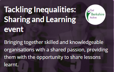 RT @Me2club: This morning we took part in @GetBerksActive's Tackling Inequalities: Sharing and Learning event. It was a great opportunity to share with others across the voluntary sector what we have learnt and hear other charities experiences. #charity #Inclusionforall #Me2Club