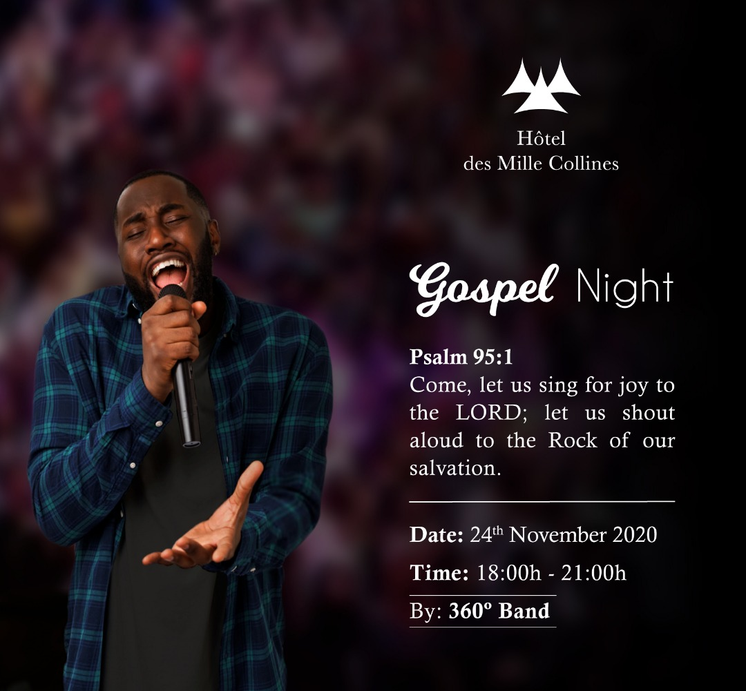 Gospel Nights! Let's #pray,  rejoice and thank the Almighty for the rain, health, life, knowledge, #family,  #friends,  status and all. Tonight @hoteldesmillecollinesrwanda during the #gospel #nights #evening show by the 360° Band. Free Entrance. #visitrwanda #timetopray #RwOT