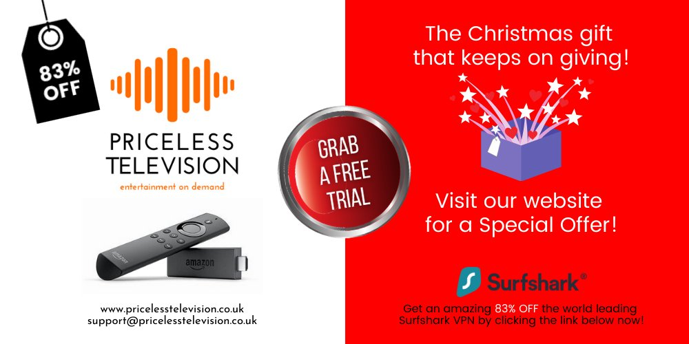 Bored with your television line-up? Start using IPTV. Less than £10 per month! Take a look at Priceless Television at .  Get your FREE TRIAL at . Get 83% OFF a Surfshark VPN account at .  #covid19 #family