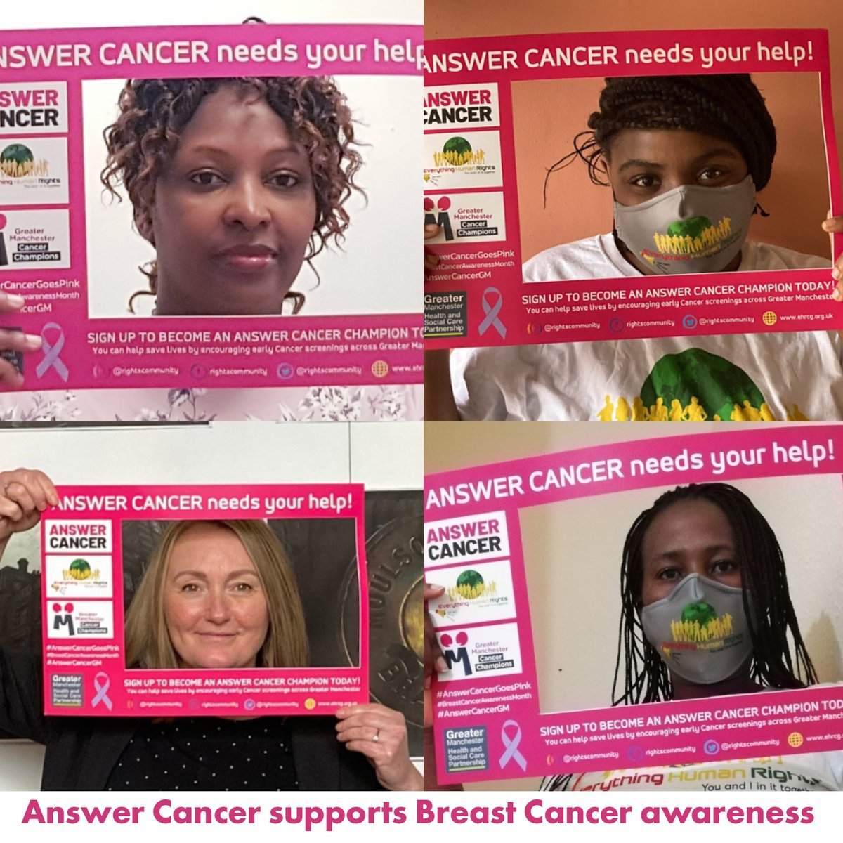 Congratulations to @RightsCommunity who won our banner making competition for #BreastCancerAwarenessMonth! Here is there winning entry. Thanks to everyone who took part. #AnswerCancerGoesPink