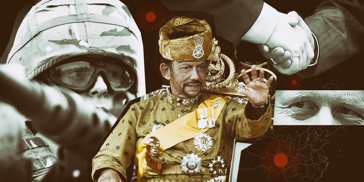 The UK has 3 garrisons in Brunei and loans 27 troops to the Sultan, a dictator who pays for British military support in order to stay in power. He also allows the British oil giant Shell to have a major stake in Brunei's oil and gas fields. bit.ly/3mcGpLK