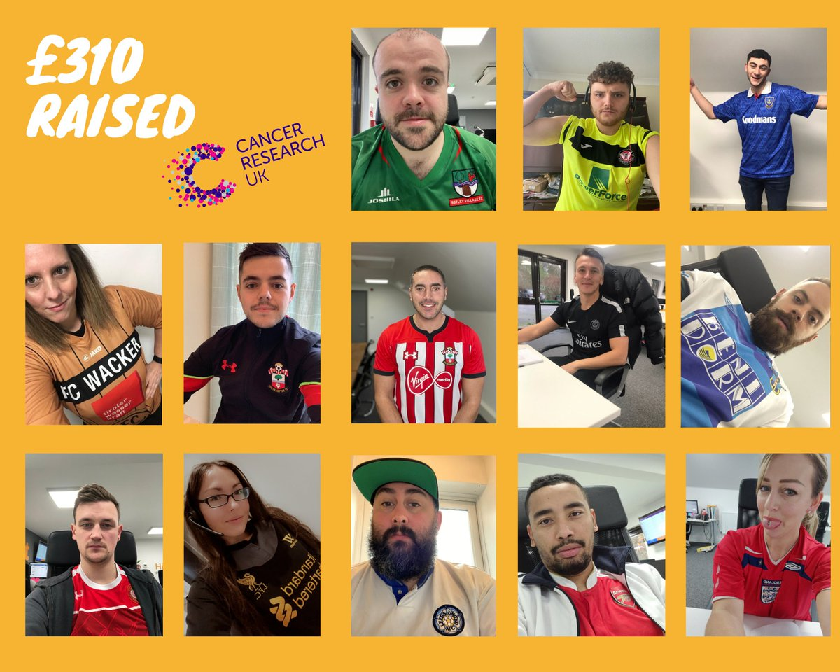 YESSS 💪 We raised £310 for cancer research on Friday! 😁 #FootballShirtFriday