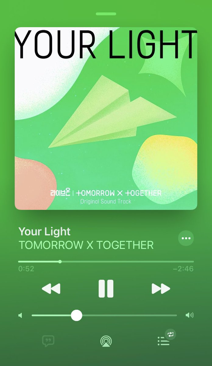 드디어 왔어 #YourLight #YourLightWithTXT #모아의_빛_투바투_첫_OST @TXT_members @TXT_bighit