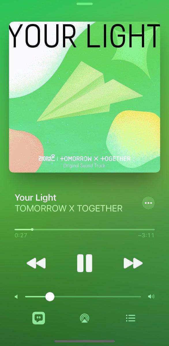 #모아의_빛_투바투_첫_OST #YourLight  #YourLightWithTXT ファイティン👍👍