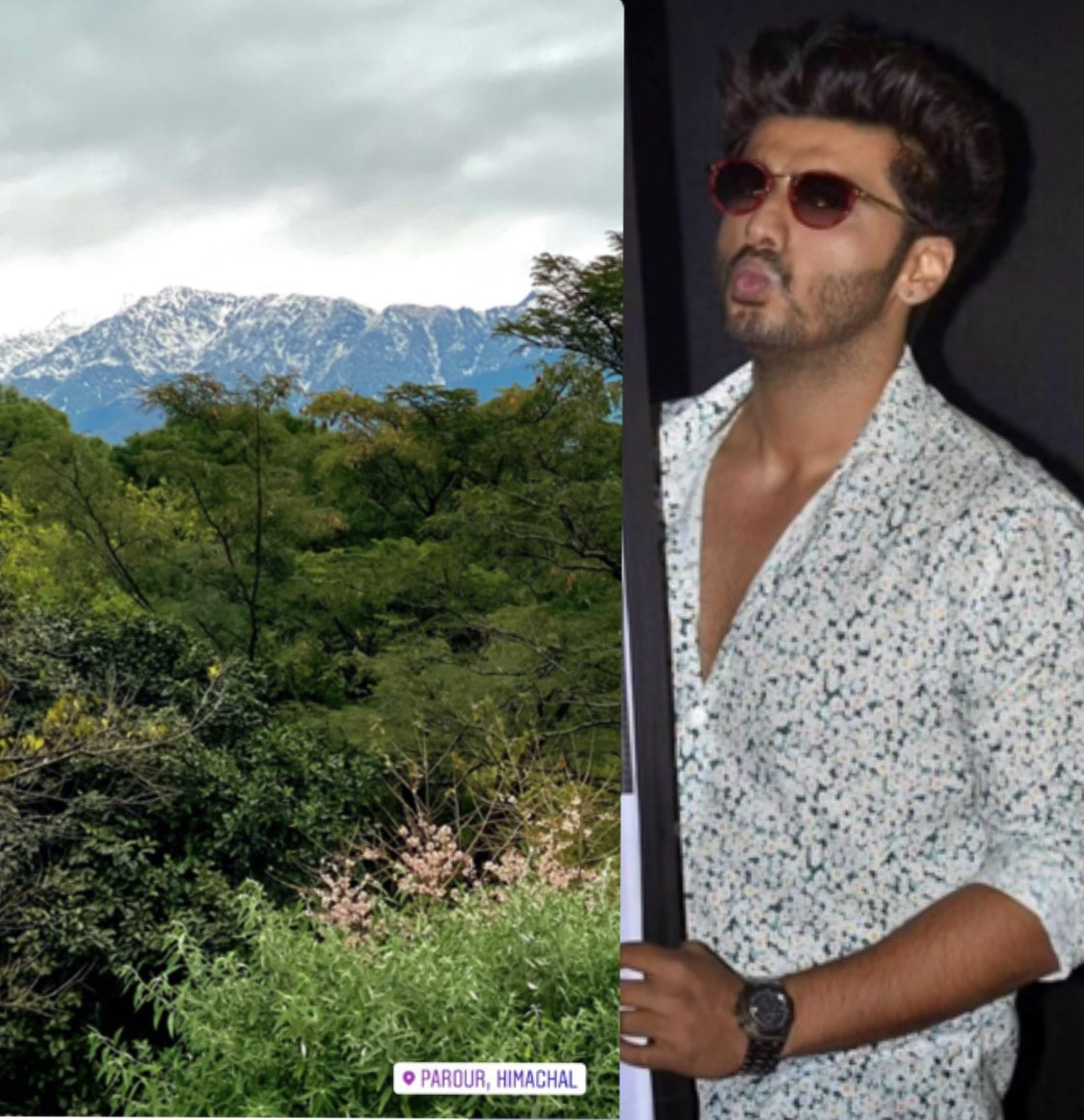 GM☀️ @arjunk26 am too fascinated by the scenic views from #dharamshala #BhootPolice  🌈🌟 So beautiful 😍  Ur lucky to shoot there.. except that temperature experiences i can understand 😉 Visualizing u n scenery together😛 Have a great day at shoot 💯 give ur best shots 👍🏽☺️