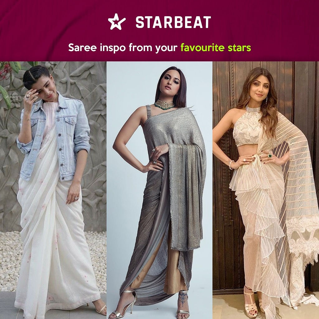 Join StarBeat and get updates about your favourite star's recent OOTD. #starbeatapp #starbeat #starupdate #sonakshisinha #samantha #shilpashetty #saree #fashion #bollywood #tollywood #kollywood #actress #cinema #indiancinema #fashionicon #fashioninspo