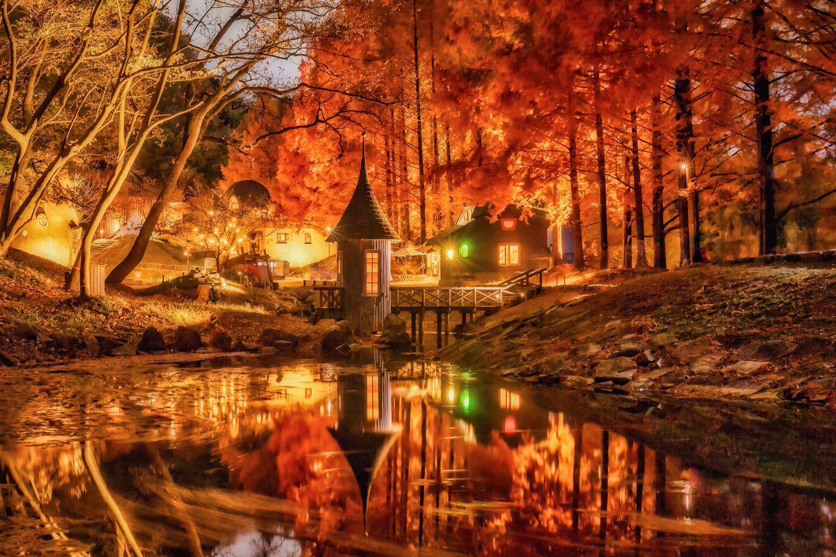 日本じゃないみたいな埼玉の絶景。ムーミン谷にやってきた秋の夜が想像以上の光景だった!