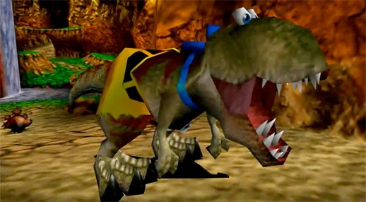 Remember how cool it was in Super Mario Odyssey, when Mario was transformed into a giant, powerful T-Rex? Banjo-Tooie did it first 😉  #SuperMarioOdyssey #BanjoTooie #SuperMario #BanjoKazooie