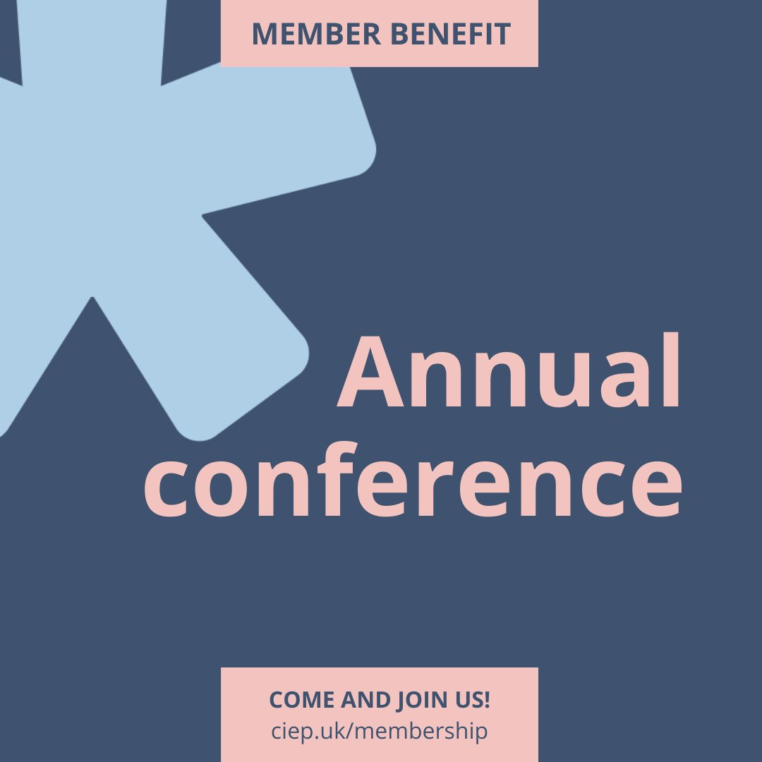 CIEP membership benefit: We host a popular annual conference. Come and join us! bit.ly/3k80KAU