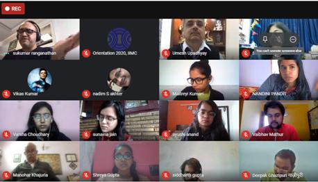 "A panel discussion on ""Editorial Freedom in Indian Media"" was organized today. Eminent editor Sh Sukumar Ranganathan (Editor-in-Chief, HT Media), Sh Umesh Upadhyay (Sr Journalist) & ShPrafulla Ketkar (Editor, Organiser Weekly) participated in the same.  #IIMCOrientation2020"
